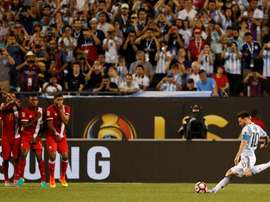 Leo Messi ha marcado uno de los goles más bonitos de la Copa América 2016. Archivo/EFE/AFP