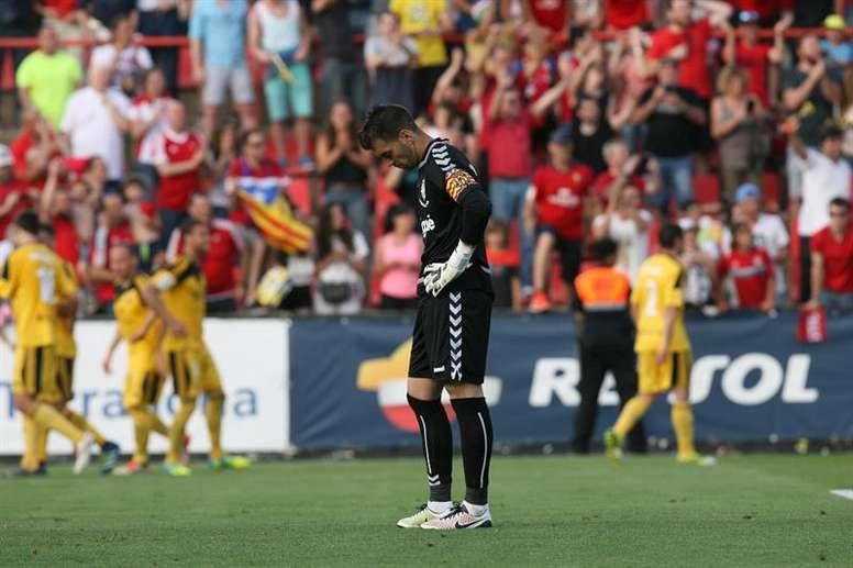 Reina lamentó el empate obtenido ante el Alcorcón. EFE
