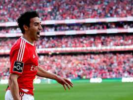 Gaitan in action for former club Benfica. AFP/EFE