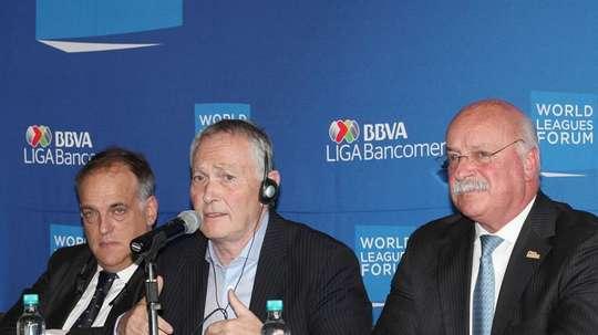 Liga MX President Enrique Bonilla believes a combined league is possible. EFE