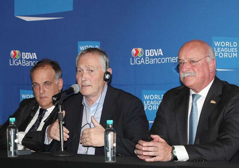 Liga MX President Enrique Bonilla believes a combined league is possible. EFE