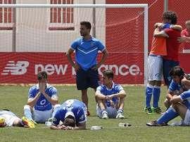 El Lleida, como los otros cuatro clubes catalanes de Segunda B, ha secundado el paro. EFE/Archivo