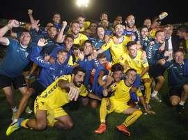 El Cádiz subió recientemente a Segunda División. EFE
