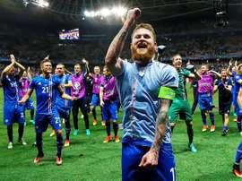 Gunnarsson, muy orgulloso a pesar de la derrota ante Francia. EFE