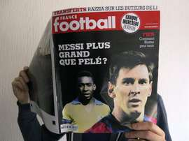 Messi is closing to beating Pele's record. EFE
