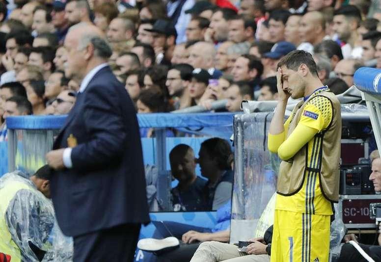 Casillas y Del Bosque se sinceraron en una charla. EFE