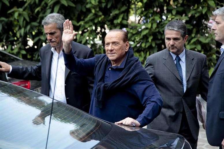 Silvio Berlusconi criticised the current Milan managers. EFE