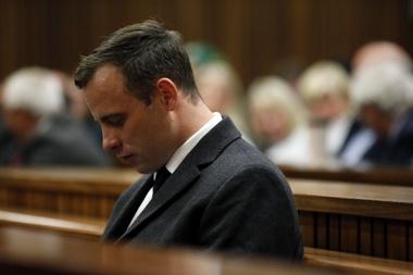El atleta paralímpico Oscar Pistorius, durante el juicio. EFE/Archivo.