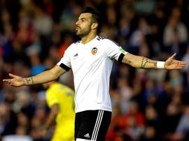 Negredo in action for Valencia. EFE