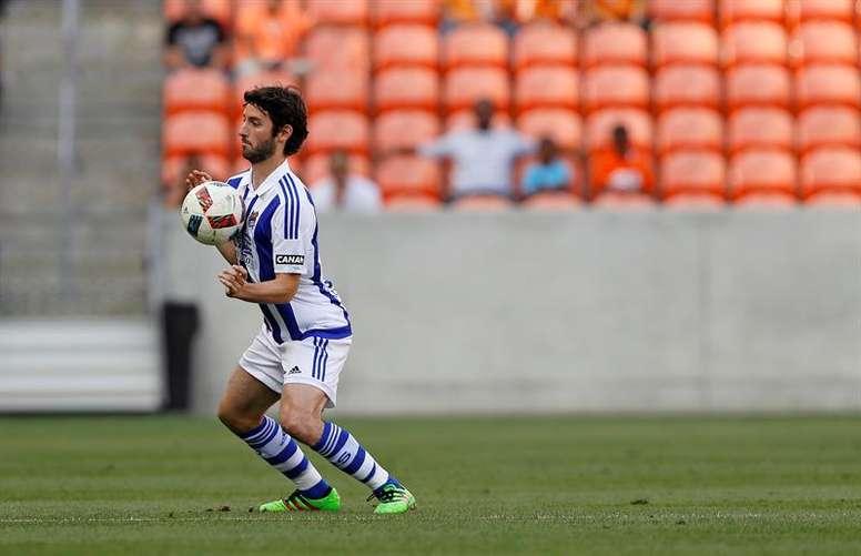 El jugador Esteban Granero de Real Sociedad. EFE/Archivo