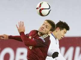 Rusia le endosó un 0-3 a Hungría. EFE