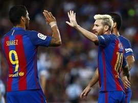 A Suárez y Messi le salen imitadores. EFE