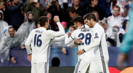 Así celebró Asensio su primer gol como madridista, el más especial para él. EFE