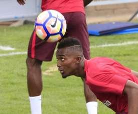 Bernard Mensah está na mira dos leões e pode ser o acordo de paz com o Atlético. EFE