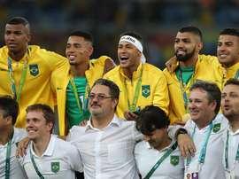 Brasil podría ser sancionada por la cinta que lució Neymar. EFE