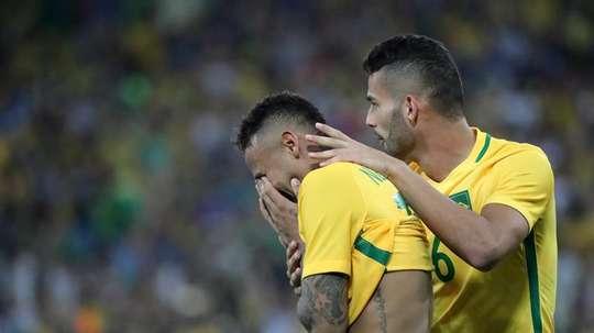 Neymar reconoció el sufrimiento vivido en los JJOO. EFE