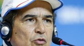 En la imagen, el entrenador de la selección de Honduras, el colombiano Jorge Luis Pinto. EFE/Archivo