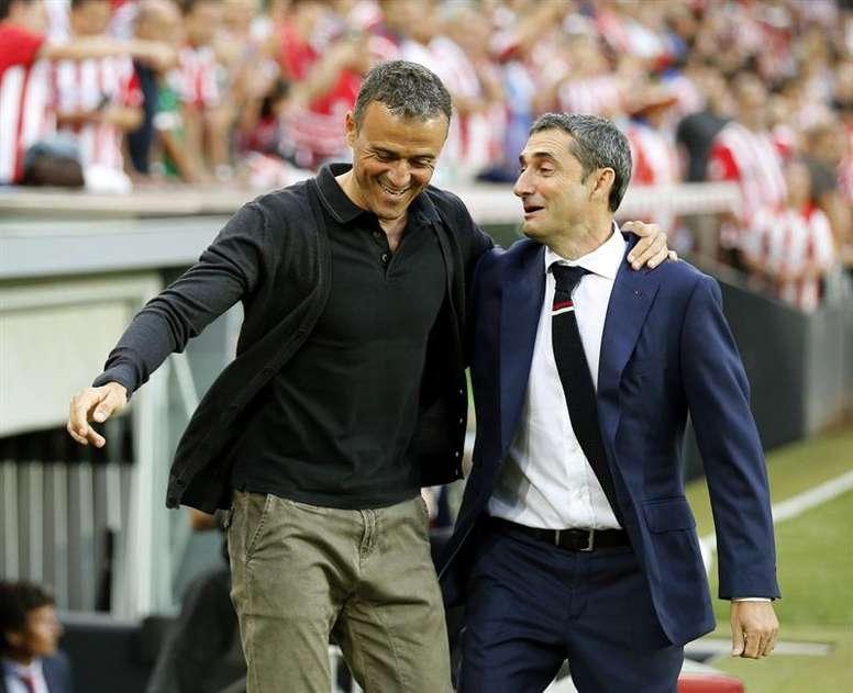 Luis Enrique supported Valverde. EFE