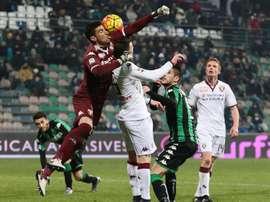 Salvador Ichazo (i), con la camiseta del Torino, durante un partido de la pasada temporada de la liga italiana. EFE/Archivo