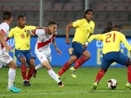 Perú venció a la Selección Ecuatoriana en un partido muy igualado. EFE