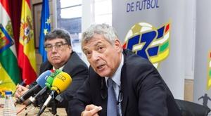 Jacinto Alonso (i), presidente de la Federación Riojana, también es investigado. EFE