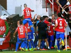Con esta victoria, el Sporting de Gijón se sitúa en la tercera plaza de LaLiga. EFE/Archivo