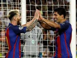 Cvitanich se mostró bromista en la Red al compararse con Leo Messi. EFE