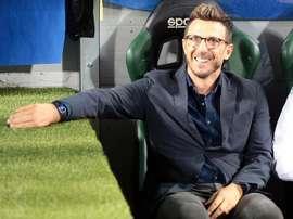 El técnico del Sassuolo se enfrentó ante su hijo que milita en el Bologna. EFE/Archivo
