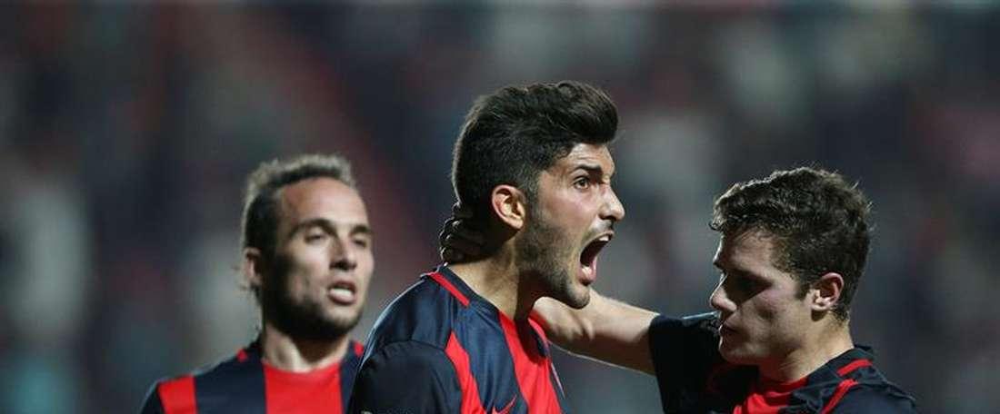 Nicolas Blandi scored a brace. EFE
