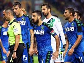 El Sassuolo rescató un punto a cinco minutos del final del duelo contra el Bologna. AFP