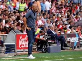El entrenador del Sporting de Gijón Abelardo Fernández. EFE/Archivo