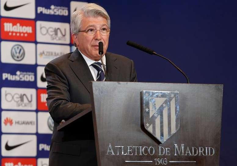 Atletico Madrid president Enrique Cerezo. EFE/Archivo