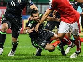 Bale no pudo dar la victoria a los suyos ante Austria. EFE