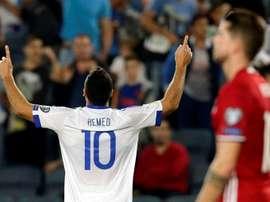Un par de goles de Tomer Hemed, exjugador de Mallorca y Almería, sostuvieron a Israel. EFE