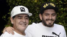 El hijo de Maradona contó, emocionado, cómo se enteró de la trágica noticia. EFE