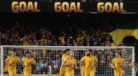 El combinado australiano quiere que Gethin Jones juegue en su equipo. AFP