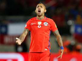 Arturo Vidal hopes that his team mate Medel holds his temper during the Confederations Cup. AFP