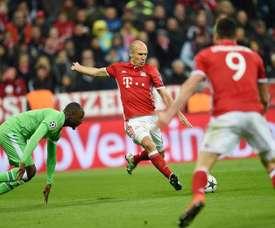 Robben anotó el cuarto y último gol del Bayern. EFE