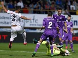 La Cultural Leonesa visita al Madrid  en la vuelta de los dieciseisavos de la Copa. EFE