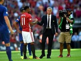 Mourinho ammonisce Martial. EFE/Archivo