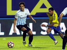 Nico destacó que en la plantilla del Cádiz no quieren renunciar a luchar hasta el final. EFE/Archivo