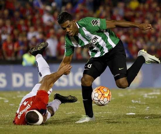 Orlando Berrío dejó una buena sensación en Nacional. EFE