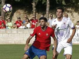 Carlos Gutiérrez se lesionó ante el Huesca. EFE