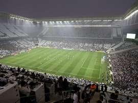 Los aficionados de Corinthians pusieron la parte gris del partido. EFE/Archivo