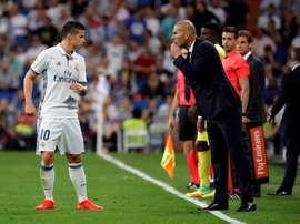 James Rodríguez n'a pas beaucoup joué avec le Real Madrid dernièrement. AFP