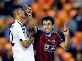 Le milieu de terrain de la Real Sociedad, Mikel Oyarzabal, célèbre un but. EFE