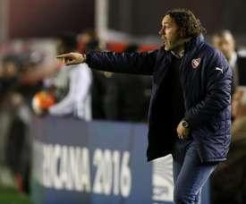 Milito habló de la posible llegada de Mascherano. EFE
