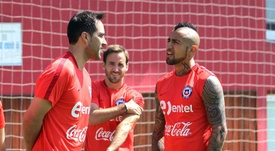 El conflicto entre Bravo y Vidal causó mella en el vestuario de 'La Roja'. EFE