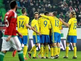 Los suecos casi no tuvieron oposición. EFE