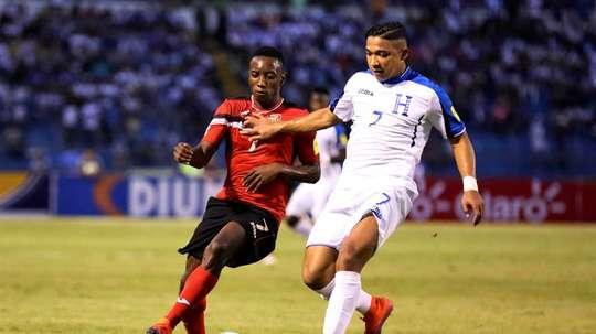 Hernández anotó el gol de Honduras. EFE